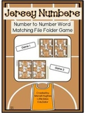 Set of 2 - Jersey Numbers File Folder Game (matching number/number words 1-10)