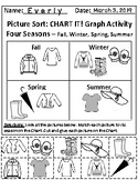 Set of 2: Seasonal Clothing and The Sky Graphing Activities *With Answer Keys!