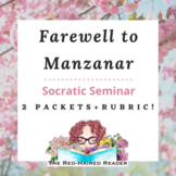 Set of 2 Socratic Seminar packets for Farewell to Manzanar