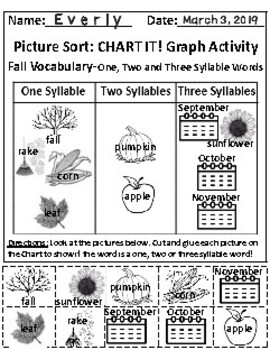 Set of 2: The Fall Season and The Sky Graphing Activities & Follow-Up Activities