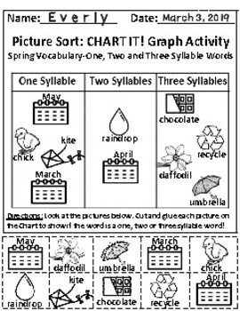 Set of 2: The Spring Season and The Sky Graph Activities & Follow-Up Activities