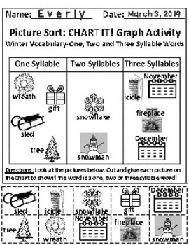 Set of 2: The Winter Season and The Sky Graph Activities *Answer Keys Included!