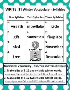 Set of 2: The Winter Season and The Sky Graph Activities & Follow-Up Activities