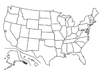 Set of 2 USA Maps- Blank and Completed by TeachingWithSavvy | TpT