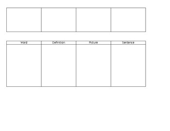 Set of 2 Worksheet Forms for Vocabulary Word Activities