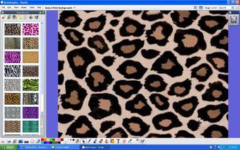 Set of 20 Animal Print Background Slides - ActivInpspire Flipchart Pages