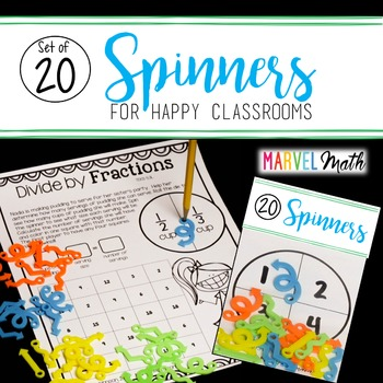 Set of 20 FUN Game Spinners by Marvel Math