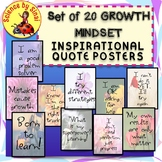 Set of 20 GROWTH MINDSET INSPIRATIONAL QUOTE CLASSROOM DECOR POSTERS