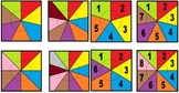 Set of 23 Coloured Spinners for Math or other activities