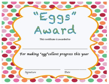 Set of 25, End-of-the-Year Class Award Certificates