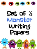 Set of 26 Monster Themed Lined Paper