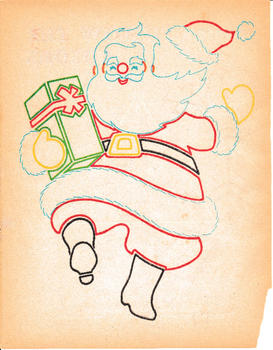 set of 27 vintage christmas coloring pages