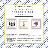 Set of 3 Adjectives Acrostic Poem Bundle - Spanish Class