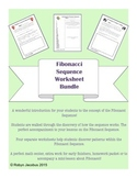 5th/6th/7th Math- Set of 4 Fibonacci Sequence Worksheets