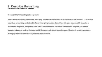 No Prep Modelled Narrative Writing Based on 7 Steps