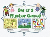 Set of 3 Number Games (Pirates, Princesses and Monsters)