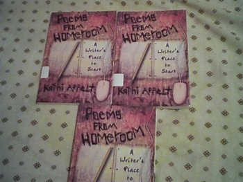 Set of 3 Poetry Books--Poems From Homeroom by Kathi Appelt
