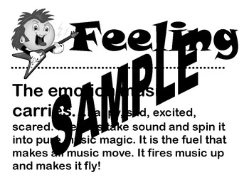 Set of 3 Printable Elementary Classroom Music Poster