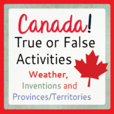 Canadian Social Studies General Knowledge Activities