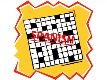 Set of 3 Spanish Vocab Crosswords