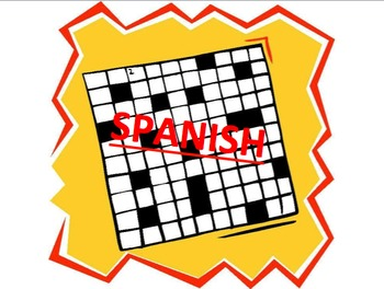 Set of 3 Spanish Vocab Crosswords