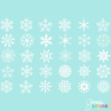 Clipart - Snowflakes and Photoshop Brushes Clip Art