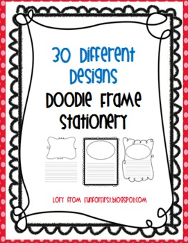 Set of 30, Doodle Frame Stationery for Writer's Workshop