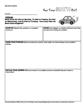 Set of 30 Rigorous Word Problems Aligned to 2nd Grade Common Core Standards