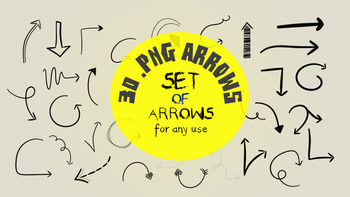 Set of 30 .png arrows doodles