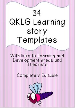 Set of 34 QKLG Learning Story Templates with Links to DA's and Theorists