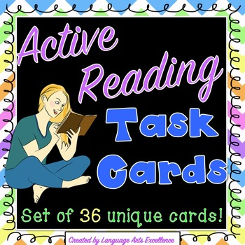 Active Reading Strategy Task Cards