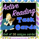 Active Reading Strategy Task Cards (Set of 36)