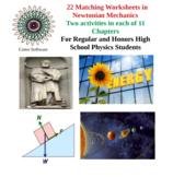 Set of 37 Physics Matching Worksheets