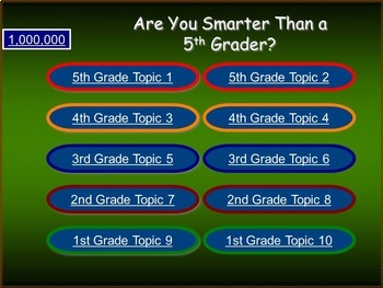 SCIENCE - Smart Fifth Graders-- 4 Science Review Games!