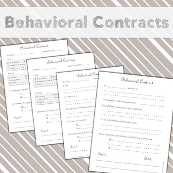 Set of 4 Behavioral Contracts