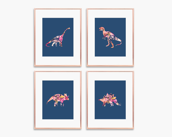 Set of 4 Dinosaur Posters