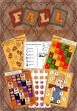 Fall/Autumn Themed Math Game Pack