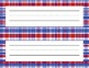 Set of 4 Plaid Name Plates