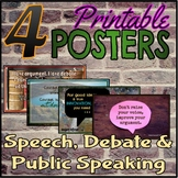 Set of 4 Posters for Speech, Debate & Public Speaking Classroom