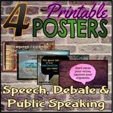 Set of 4 Posters for Speech, Debate & Public Speaking Classroom