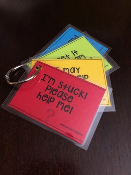 Set of 4 Student Self-Monitoring Cards
