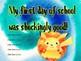 Set of 4 pokemon 'first day' printables