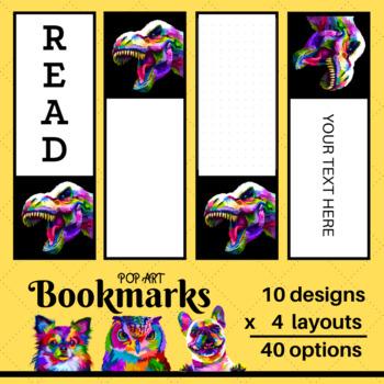 Set of 40 Animal Bookmarks