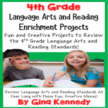 4th Grade Reading and Language Arts Projects! Covers All S