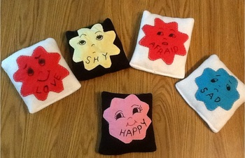 Set of 5 Emotion Fabric Storyhelpers