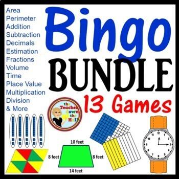 A Bingo Review Games - Set of 12 Games  All w/ 35 Bingo Cards! Grades 4-5