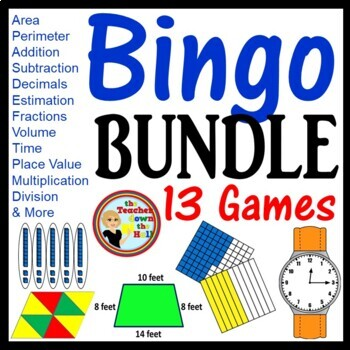 Bingo Review Games -13 Games 35 Bingo Cards Each! Grades 4-5