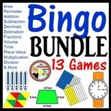 Math Bingo Games -13 Games 35 Bingo Cards Each! Grades 4-5