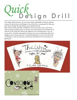 Set of 5 Quick Design Assignments for Graphic Arts
