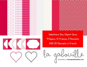 Set of 50 clipart for Valentine's Day (frames , backgrounds, banners )
